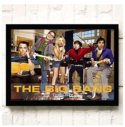 The Big Bang Theory TV Film QualitätWandkunst WohnkulturLeinwand Malerei Kunst Nordische Dekoration Hotel Bar Cafe Wohnzimmer Poster(60X80Cm)-24x32 Zoll Kein Rahmen