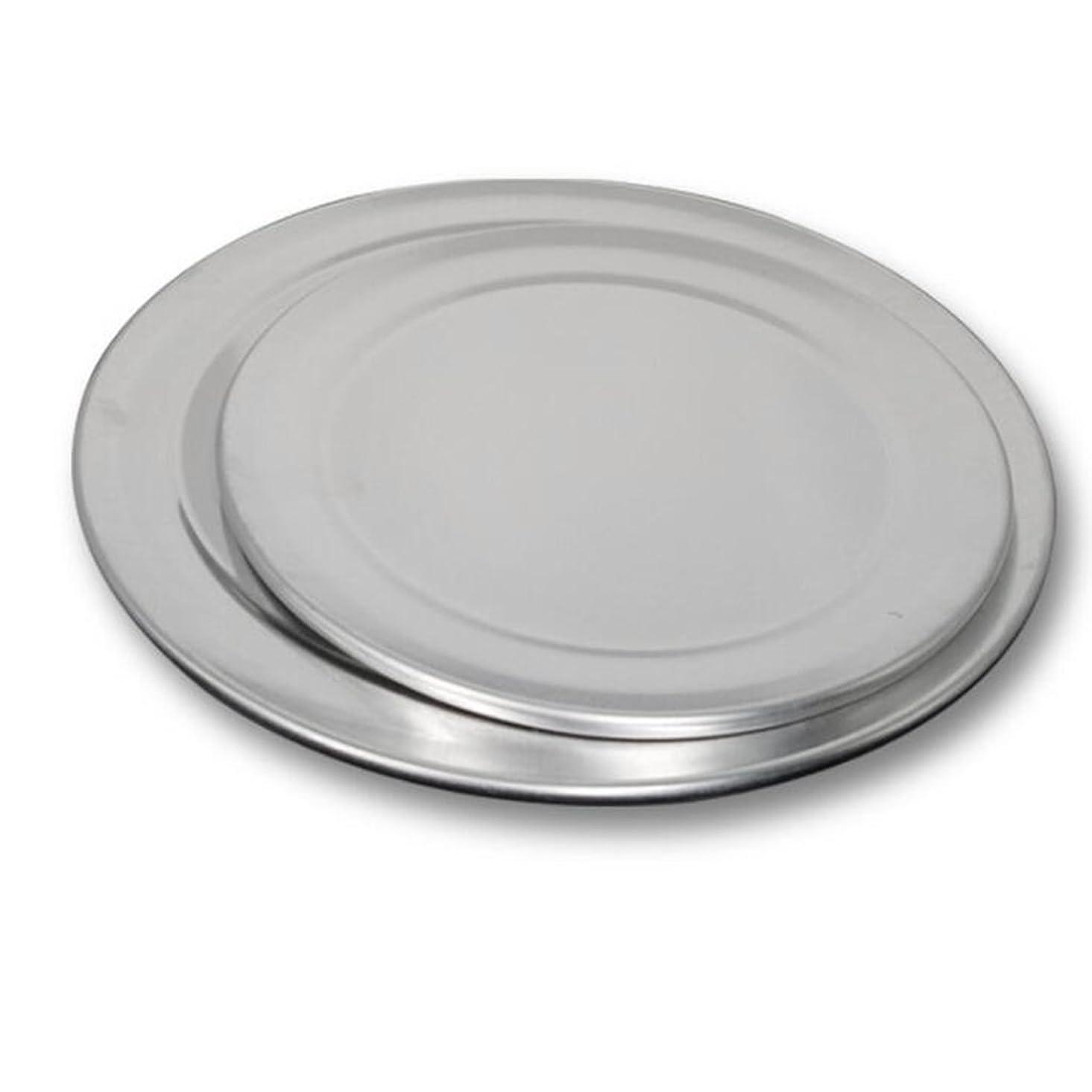ダルセット大砲リスキーなピザトレイ ラウンド ピザプレート キッチン 耐熱皿 円形 アルミニウム 12インチ+8インチ 2個セット