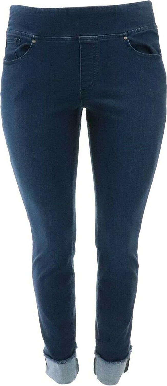Belle Kim Gravel TripleLuxe Denim Jeans A388509 Dark Indigo