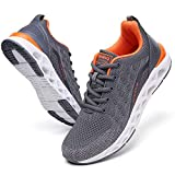 Grey Sneakers for Men Running Shoes Size 11 Trail Cross Trainers Stylish Sport Tennis Athletic Walking Shoe mesh Breathable