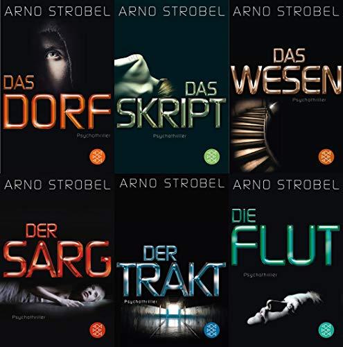 6 Krimis von Arno Strobel im Set