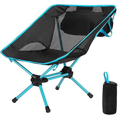 Ubon - Sillas plegables para campamento, senderismo, pesca, viajes, picnic, color azul