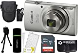 Canon PowerShot ELPH 180 20MP 8X Zoom Digital Camera...