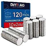DIYMAG Refrigerator Magnets Premium Brushed Nickel Fridge Magnets, Office Magnets - 10 X 2 mm 120Pieces