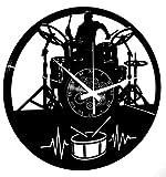 Instant Karma Clocks - Reloj de Vinilo de Pared, Idea Regalo Vintage Hecho a Mano, Guitarra Musical, Teclado de batería, Grupo Musical, Rock Metal