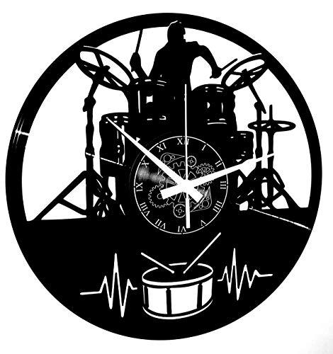 orologio da parete musica Instant Karma Clocks Orologio in Vinile da Parete Idea Regalo Vintage Handmade Chitarra Musica Tastiera Batteria Gruppo Musicale Rock Metal