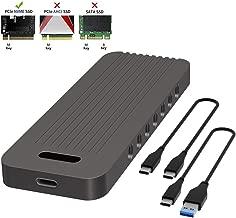 QNINE NVME Enclosure for M.2 NVME SSD, USB 3.1 Gen 2 Type C Interface