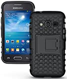 NAKEDCELLPHONE Black Grenade Rugged TPU Skin Hard CASE Cover Stand for Samsung Galaxy ACE-4 (Lite G313 G313H)