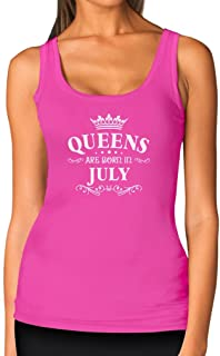 TeeStars - Birthday Gift for Women - Queens are Born in July Women Tank Top