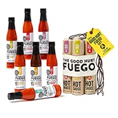 UNIQUE GIFT - Chosen as one of OPRAHS FAVORITE THINGS; What better way to show you are thinking of someone than with a beautiful and thoughtful hot sauce gift set! This gift set includes 7 different hot sauces inspired by exotic flavors and peppers f...