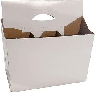 6 Pack Cardboard 12 oz Beer/Soda Carrier by C-Store Packaging (Pack of 50) (White-50pk)