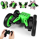 RC Stunt Cars Remote Control Car Toys for Kids,Foul-Wheel Drive Double-Sided Fancy 360°Flipped Vehicle,Led Lights Control&Demo Mode Music,Toy Gifts for Boys & Girls