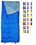 REVALCAMP Lightweight Blue Sleeping Bag Indoor & Outdoor use. Great for Kids, Youth & Adults. Ultralight and...