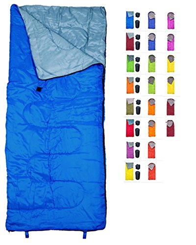 REVALCAMP Lightweight Blue Sleeping Bag Indoor & Outdoor...