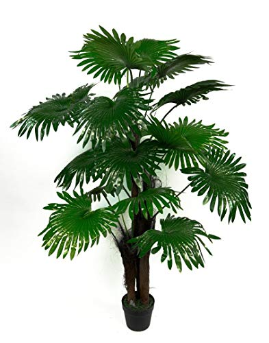 Seidenblumen Roß Fächerpalme Real Touch 140cm ZJ künstliche Pflanzen Palmen Palme Kunstpalmen Kunstpflanzen Dekopalme