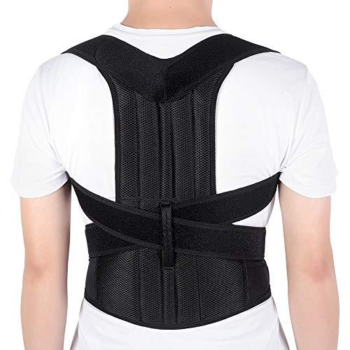 "Yosoo Health Gear Back Brace Posture Corrector Adjustable Back Shoulder Lumbar Waist Support Belt for Men and Women, Improve Posture, Prevent Slouching, Pain Relief (XXL 42""-50"")"