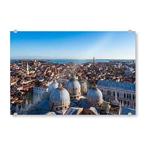 artboxONE Acrylglasbild 150x100 cm Städte Historische Gebäude in Venedig - Bild venedig Italien Kirche