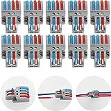 CTRICALVER 10 Pezzi Cavo Connettore, 2 in 4 out Bilaterale Conduttore Compatto Connettore,...