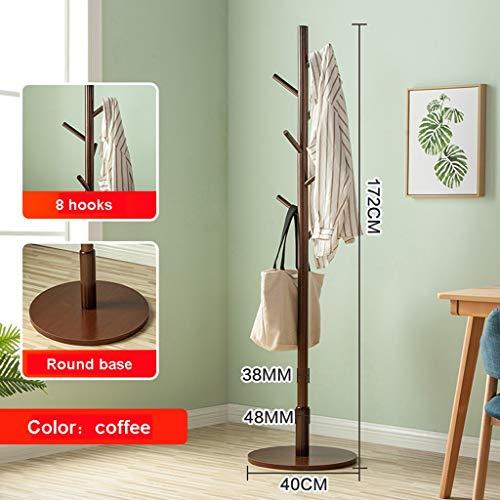 BVXGSWBQWS Garderobestandaard, garderobestandaard van hout, voor thuis, op kantoor, eenvoudige montage