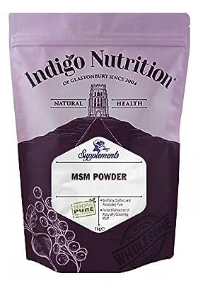 Indigo Herbs MSM Powder 1kg | Methylsulfonylmethane | No Additives | Vegan | GMO-Free