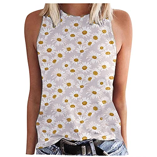 Hapy Camiseta de mujer de manga corta, camiseta con cuello redondo, moderna, blusa de verano, informal, ropa básica, sudadera, fina, blusa elegante, tupida blanco M
