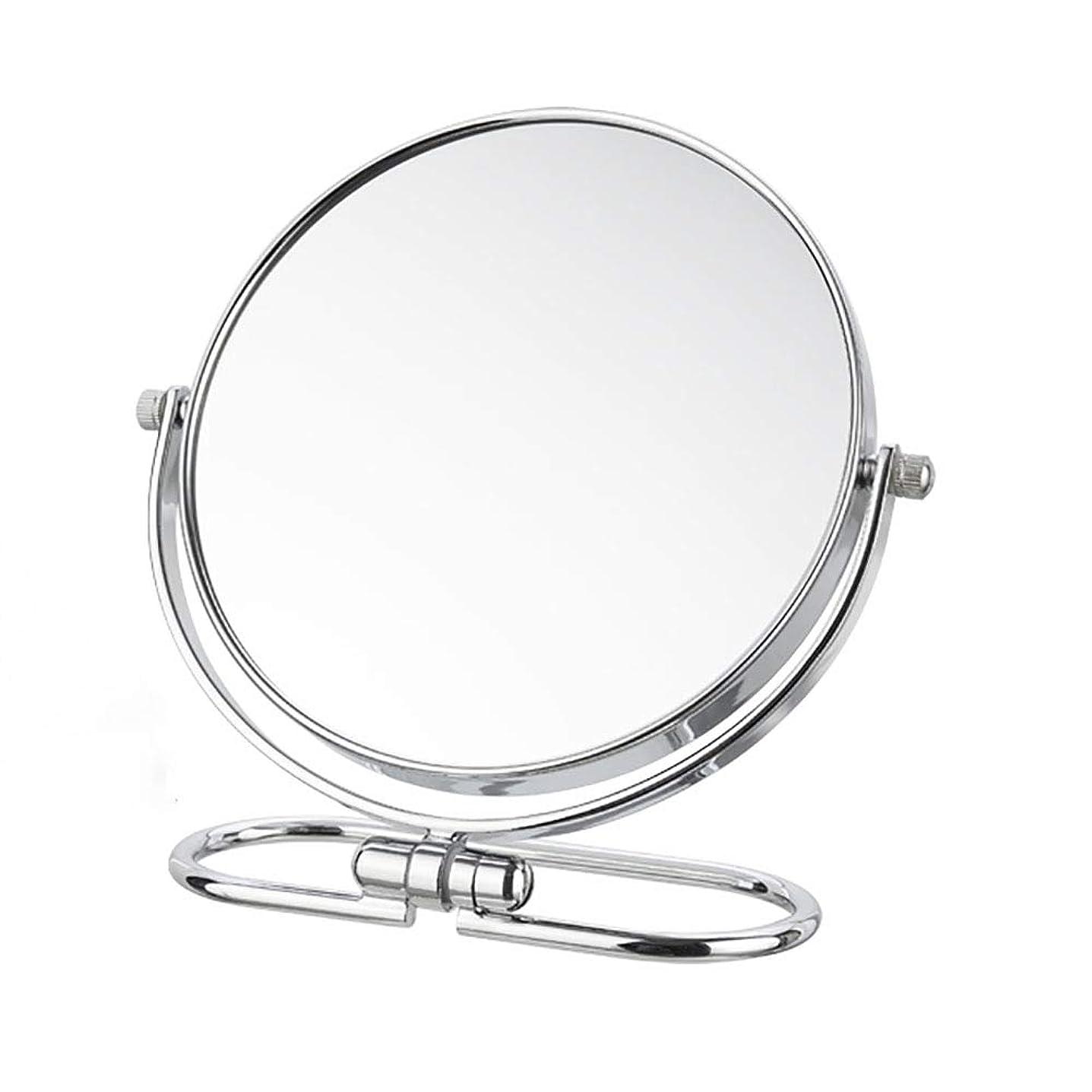 炎上月曜日浸す化粧鏡拡大両面鏡自立型ポータブル化粧台鏡