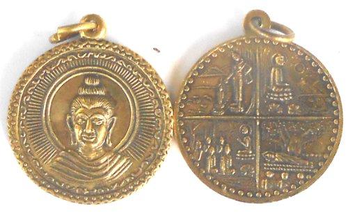 Colgante Buda 4vida secciones Figura Bronce 2,5x 3cm