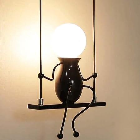 Lampe Murale Moderne, Humanoïde Créatif Lampe Murale, E27 LED Applique Murale Lampe pour Chambre, Chevet, Escalier, Couloir, Restaurant, Cuisine, Noir