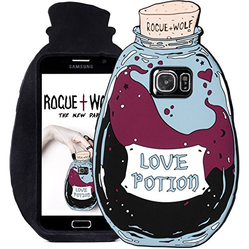 Rogue + Wolf Cute Love Potion Phone Case for Girls Compatible with S6 S7 S6Edge Galaxy Kawaii Protective Cover Cases