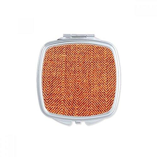 DIYthinker Cuir Crocodile Abstrait carré Maquillage Compact Miroir de Poche Portable Mignon Petit Cadeau Miroirs Main Multicolor