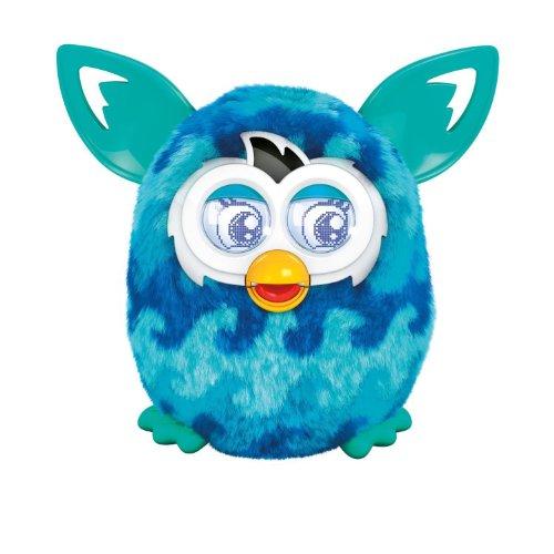 Furby Boom - Elektronisches Haustier (spricht Spanisch) Wellen dunkelblau und hellblau