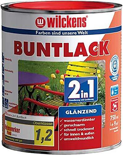 Wilckens Buntlack 2in1, 375 ml glänzend, Anthrazit RAL7016
