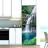 Pegatina de pared universal para decoración mural de pared, pegatinas de nevera, cubierta de la puerta, paisaje, planta mar, vinilo autoadhesivo para muebles de cocina, envoltura de congelador