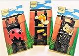 Flower Pot Hugger Bumble Bee, Owl, Lady Bug Set of 3