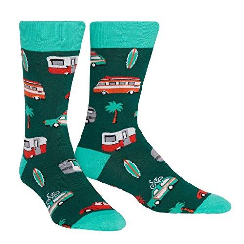 Sock It To Me - Herren Socken Day Tripper - lustige Herren Socken Urlaub Wohnmobil Palme Gr.42-47 One Size