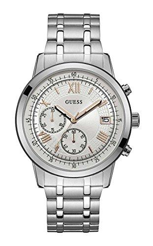 Guess Orologio Cronografo Quarzo Uomo con Cinturino in Acciaio Inox W1001G1