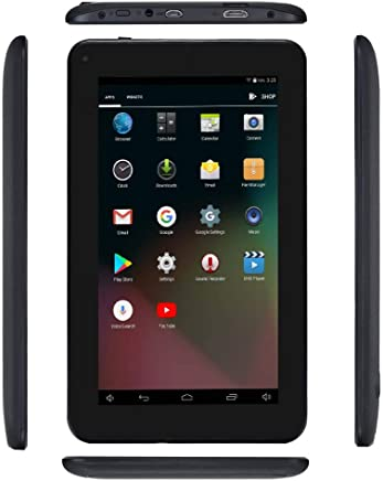 Haehne 7 Inches Tablet PC, Google Android 6.0 Quad Core, 1024 x 600 Screen, Dual Cameras, 1GB RAM 16GB ROM, 2800mAh, WiFi, Bluetooth, HDMI, with Stand Leather Case
