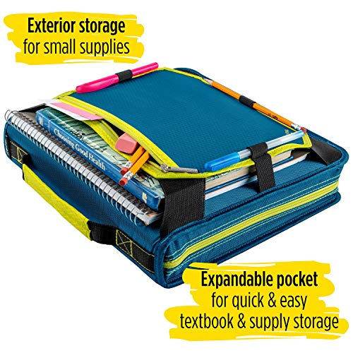 Five Star Zipper Binder, 2 Inch 3 Ring Binder, Expansion Panel, Durable, Color Selected For You, 1 Count (29052) Photo #3