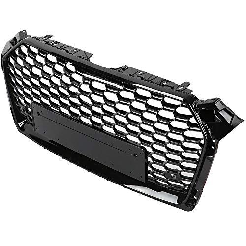 Qii lu voor RS5 Style Front Sport Hex Mesh Honeycomb kap grill zwart voor A5 / S5 B9 17-18