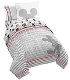 Jay Franco Disney Mickey Mouse 90th Stripe Bed Set, Full