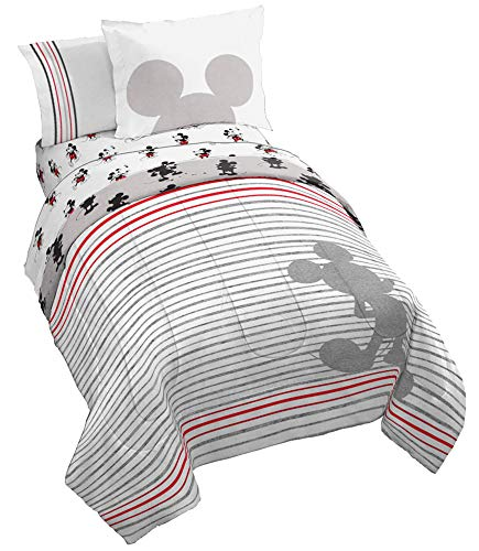 Jay Franco Disney Mickey Mouse 90th Stripe Bed Set, Twin