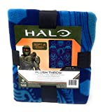 5B Halo Infinite Throw Blankets 40 x 50 inches Blue Plush Throw Soft and Cozy Gamer Blanket Great Gift or Travel Blanket