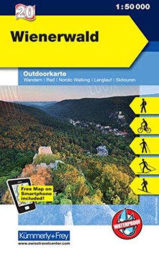 Wienerwald: Nr. 20 , Outdoorkarte Österreich, 1:50 000, Mit kostenlosem Download für Smartphone (Kümmerly+Frey Outdoorkarten Österreich)