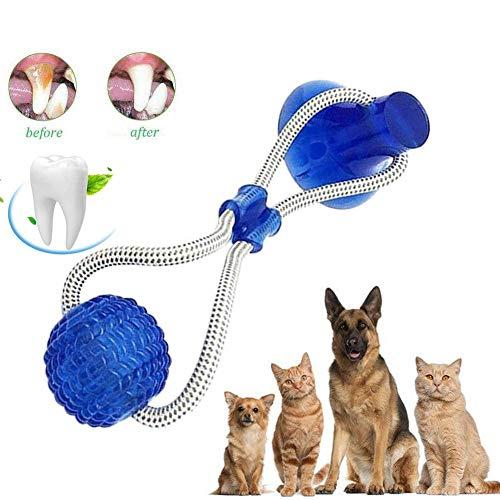 FOHYLOY Juguete de mordida para Mascotas multifunción, Juguete de Cuerda para Tirar, Resistente, Juguete con Ventosa, Tugging, Tirar, Masticar, Jugar para Perros