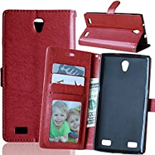 ZTE Zmax 2 Case, Ranyi [Flip Wallet] [Kickstand Feature] [Card Holder] [Photo Slot] PU Leather Folio Wallet with Stand Case Cover for ZTE Zmax 2 Z958 (Brown)