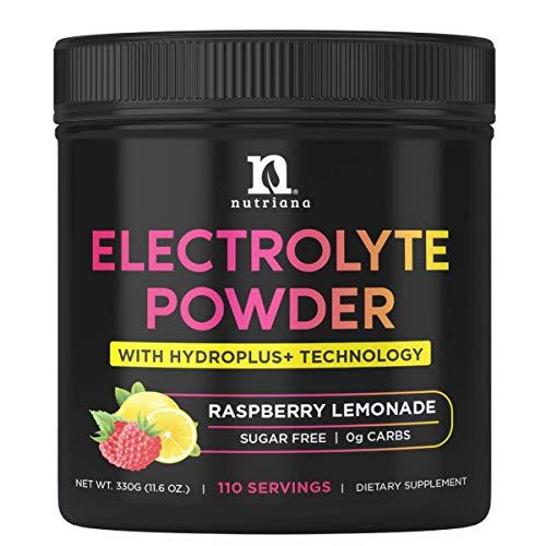 Delicious Keto Electrolyte Powder Hydration Supplement - Hydration Powder - Keto Electrolytes Supplement - No Sugar, 0 Carbs, Magnesium, Potassium, Calcium - Raspberry Lemonade
