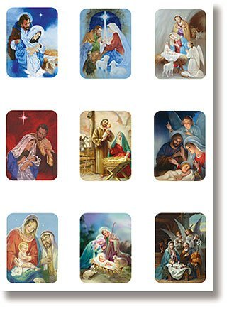 Nativities Magnet Set 9 Different Designs of Religious Christmas Magnets with Cross Bookmark