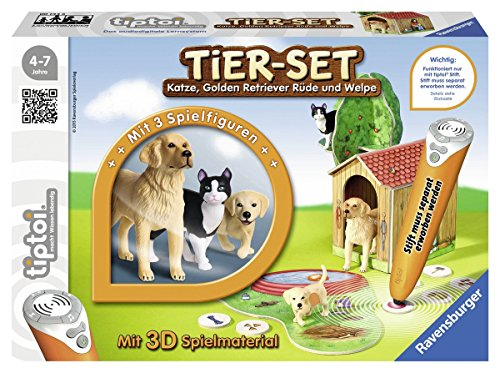 Ravensburger 00744 - tiptoi Tier-Set Golden Retriever