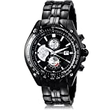 Curren - Reloj de pulsera para hombre, militar, de cuarzo, acero, tungsteno, con esfera gr...