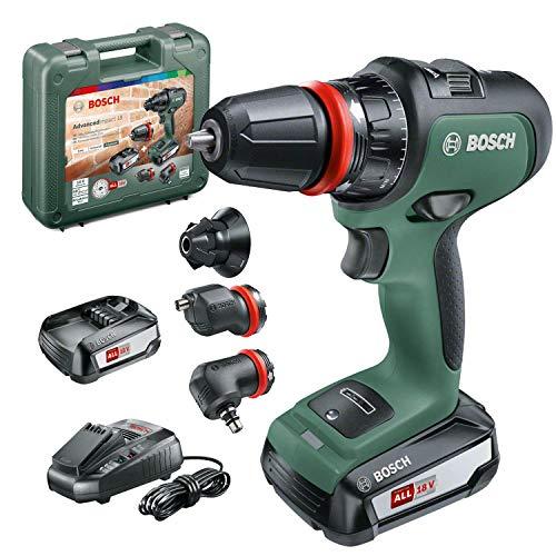 Bosch Home and Garden Bosch AdvancedImpact 18 (HMI), 06039B5103, Trapano Battente-Avvitatore brushless, 0-400 / 0-1500 min., mandrino, eccentrica e Testa angolare, 2 batterie, 18 V
